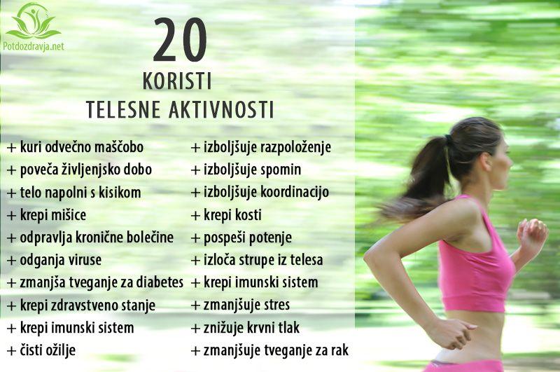 20 koristi telesne aktivnosti